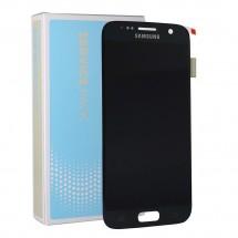 Pantalla ORIGINAL Service Pack LCD mas táctil color negro para Samsung Galaxy S7 G930F