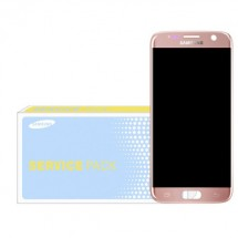 Pantalla ORIGINAL Service Pack LCD mas táctil color rosa para Samsung Galaxy S7 G930F