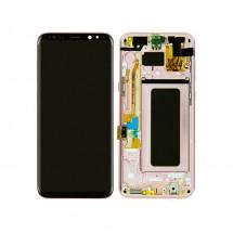 Pantalla LCD y tactil Con Marco color dorado para Samsung Galaxy S8 Plus G955F