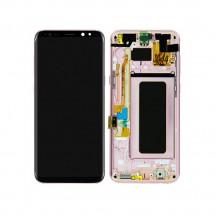 Pantalla LCD y tactil Con Marco color Rosa para Samsung Galaxy S8 Plus G955F