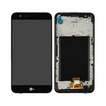 Pantalla completa LCD y táctil color negro Con Marco para LG K20 Plus TP260 MP260