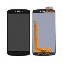 Pantalla completa LCD y táctil color negro para Motorola C Plus XT1723