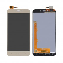 Pantalla completa LCD y táctil color dorado para Motorola C Plus XT1723
