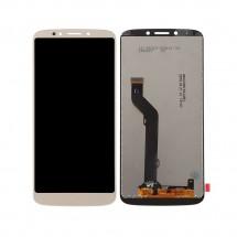 Pantalla completa LCD y táctil color dorado para Motorola Moto E5 Plus
