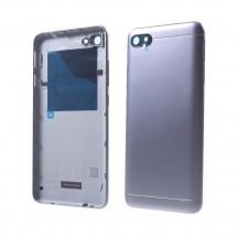 Tapa trasera color Gris con cristal lente y botones laterales para Xiaomi Redmi 6A
