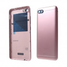 Tapa trasera color rosa con cristal lente y botones laterales para Xiaomi Redmi 6A