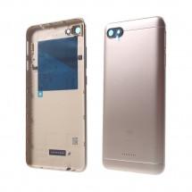 Tapa trasera color Dorado con cristal lente y botones laterales para Xiaomi Redmi 6A
