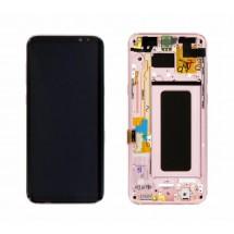 Pantalla LCD y tactil Con Marco color rosa para Samsung Galaxy S8 Plus G955F (remanufacturada)