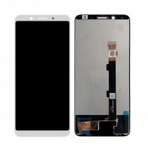 Pantalla completa LCD y táctil color blanco para Oppo F5