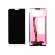 Pantalla completa LCD y táctil color blanco con Huella para Huawei Honor 10