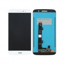 Pantalla completa LCD y táctil color blanco para Motorola Moto M XT1662