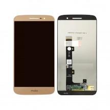 Pantalla completa LCD y táctil color dorado para Motorola Moto M XT1662