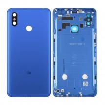 Tapa trasera color azul con cristal lente cámara trasera para Xiaomi Mi Max 3