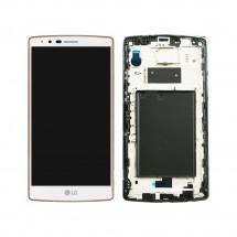 Pantalla LCD más táctil con marco color blanco para LG G4 H815
