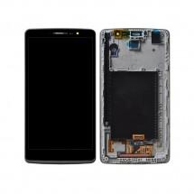 Pantalla LCD y tactil con marco color negro para LG G4 Stylus H635