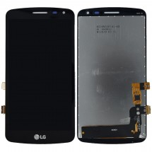 Pantalla LCD y táctil color negro para LG K5 X220