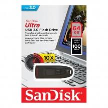 Pendrive retráctil de 64Gb Sandisk Ultra USB 3.0 velocidad hasta 100Mbs