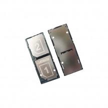 Bandeja porta tarjeta sim y Dual color negro para Sony Xperia C3 D2502