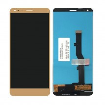 Pantalla completa LCD y táctil color dorado para ZTE Blade V9