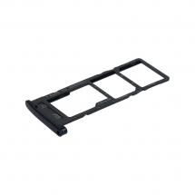 Bandeja porta tarjeta Sim y MicroSD color negro para Motorola Moto G6 Play