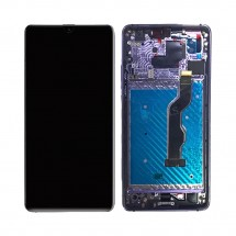 Pantalla completa LCD y táctil con MARCO para Huawei Mate 20 X / Mate 20X