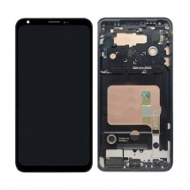 Pantalla completa LCD y táctil Con marco negro para LG V35 ThinQ