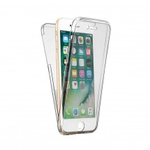 Funda TPU silicona transparente 360º para iPhone 6Plus