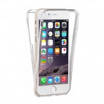 Funda TPU silicona transparente 360º para iPhone 8Plus