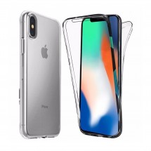 Funda Doble TPU Silicona Transparente 360 para iPhone X