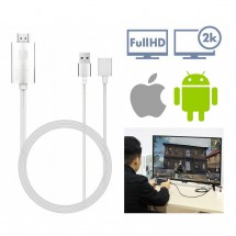 Cable Adaptador HDMI 2K FullHD para iOS y Android