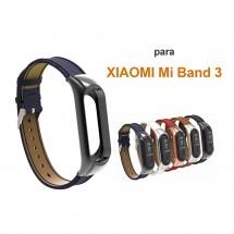 Correa piel para Xiaomi Mi Band 3 - elige color