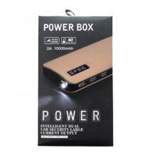 Batería externa Power Bank 15000mAh carga rápida 2A - 3 USB - elige color