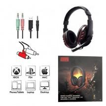Auriculares cascos Gaming con Micrófono USB / Jack / RCA Ref. EJ45 - Xbox - PS4 - Mac - WIN