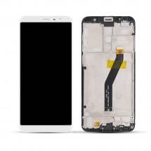 Pantalla completa LCD y táctil color blanco con marco para Meizu M6T