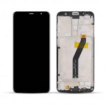 Pantalla completa LCD y táctil color negro con marco para Meizu M6T