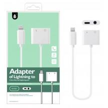 Adaptador Lightning a Puerto carga y Jack de audio para iPhone Ref. OP-B4581