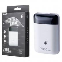 Batería externa Power Bank 7800mAh 2.1A - 2 USB - LED - Mod. OP-D2340 color blanco