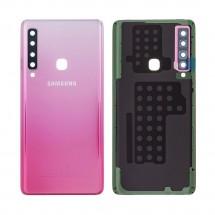 Tapa trasera color rosa con cristal lente para Samsung Galaxy A9 2018 (A920)
