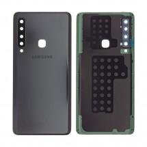 Tapa trasera color negro con cristal lente para Samsung Galaxy A9 2018 (A920)