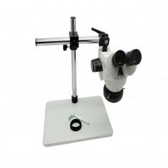 Microscopio 7-45X aumentos con soporte de brazo y luz LED