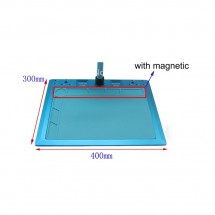 Base soporte metálico para microscopio con alfombrilla magnética