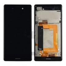 Pantalla LCD más táctil con marco color negro para Sony Xperia M4 Aqua E2303 (Swap)