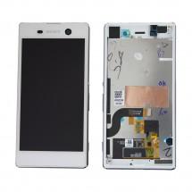 Pantalla LCD y tactil blanco con marco para Sony Xperia M5 (swap)