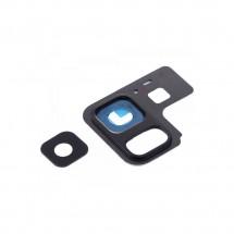 Cristal lente y embellecedor color negro para Samsung Galaxy A8 2018 (A530F)