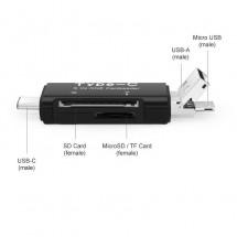 Lector tarjetas OTG MicoSD - Type C - USB - SD Card - Ref. NWDKQ11