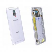 Tapa trasera color Blanco con cristal lente para Samsung Galaxy A6 (A600F)