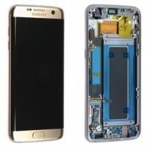 Pantalla Dorada con premarco Samsung Galaxy S7 Edge G935F