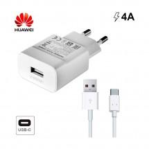Cargador Super Rápido ORIGINAL Huawei de 5V y 4A + cable Tipo C