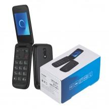 Alcatel 2053D Dual Sim - con tapa - teclas grandes - color Negro - NUEVO - (2 años de garantía)