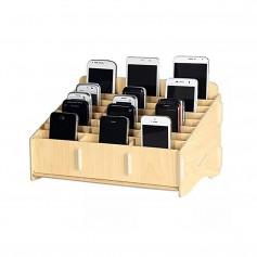 Loghot soporte multifuncional almacenaje de madera con 24 compartimentos